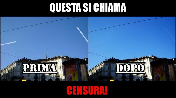 Facebook censura scie chimiche