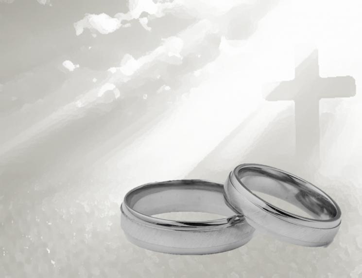 anelli matrimonio croce