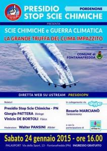 Volantino evento di PN 24-1-2015