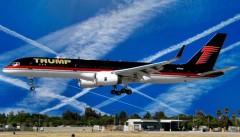 Donald Trump possiete un Boeing 757 col quale provvede personalmente ad avvelenarci