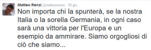 Misterioso Tweet di Renzi